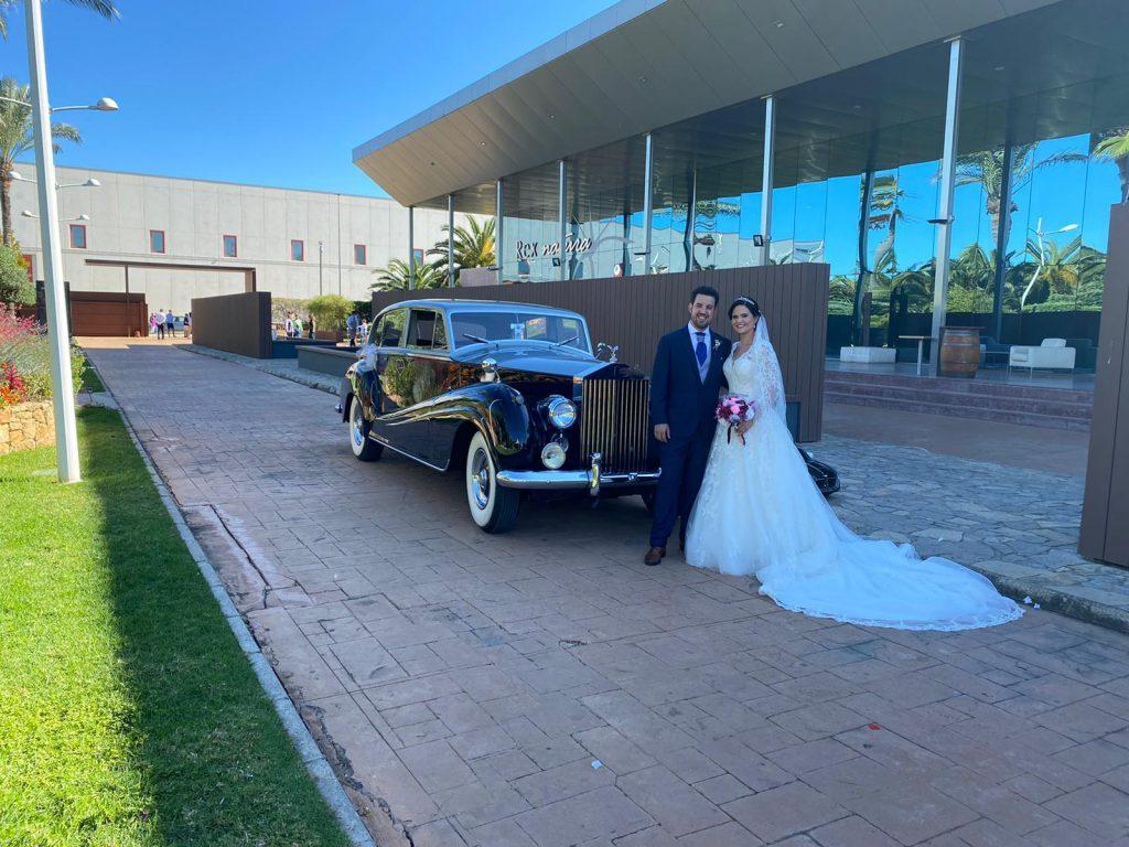 Alquiler coche para boda Laura y Jorge Sauclass